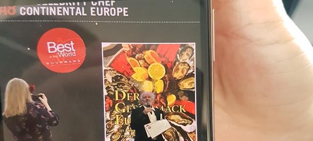 """Lojze Wieser erhält Gourmand Award in der Kategorie Best TV Celebrity Chef – Continental Europe für Buchserie und Sendereihe """"Der Geschmack Europas"""""""